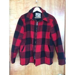 Mens Vintage Woolrich Red BuffaloPlaid Wool Jacket